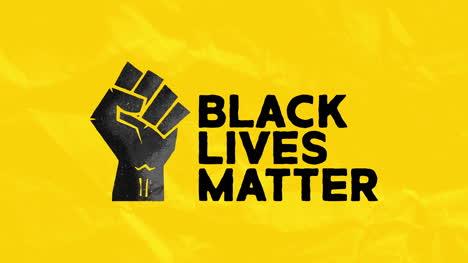 Logotipo-De-Puño-De-Poder-Animado-De-Vidas-Negras-Importa