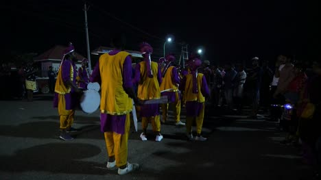 Varkala-Kerala-India-31-Jan-2019-A-group-of-drummers-playing-during-the-eve-of-new-year-celebration