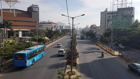 Bangalore-Karnataka-India-Lesser-traffic-due-to-festival-holidays-on-outer-ring-road