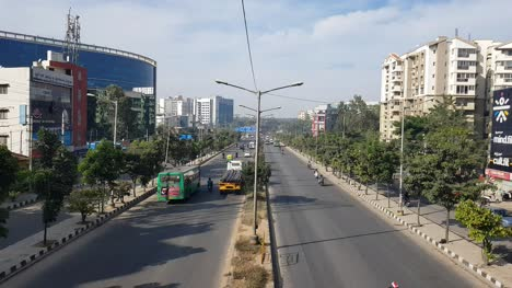 Bangalore-Karnataka-India-November-8-2018-Lesser-traffic-due-to-festival-holidays-on-outer-ring-road
