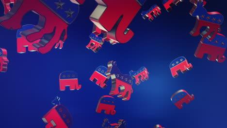 Elecciones-Presidenciales-2020-De-EE-UU-Lloviendo-Logotipos-Motion-Graphic-3d