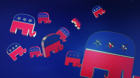 3D-Animated-Republican-Logo-Rain-US-Motion-Graphic