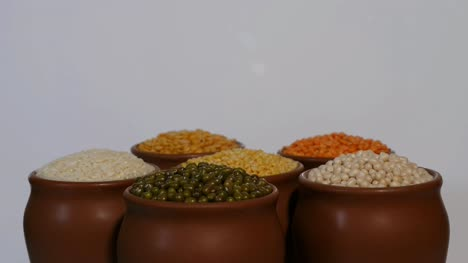Closeup-view-of-Fresh-Indian-pulses-kept-in-cups-slowly-revolving