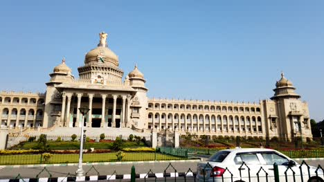 Bengaluru-Karnataka-India-Wide-angle-motionlapse-video-of-Vidhana-Soudha-in-Bengaluru-Karnataka-India-during-daytime