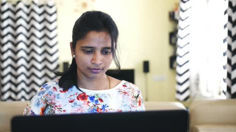 Closeup-of-an-Indian-business-woman-working-from-home-due-to-the-covid19-coronavirus-lockdown-