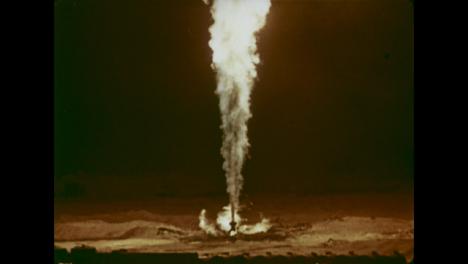 1966-Incendio-De-Pozo-De-Gas-De-3-Años-En-Campo-De-Gas-De-Uzbekistán