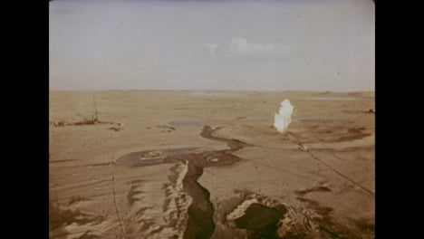 1966-Incendio-De-Un-Pozo-De-Gas-De-3-Años-En-El-Campo-De-Gas-De-Uzbekistán