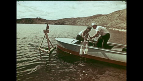 1965-Collecting-Samples-from-Lake-Created-by-Soviet-Nuclear-Bomb