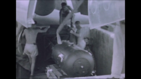 1945-Fat-Man-and-Little-Boy-Atomic-Bomb-Preparations-at-Tinian-Island-015