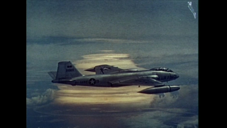 1958-American-B-57B-Plane-Sampling-Clouds-During-Thermonuclear-Test-at-Bikini-Atoll