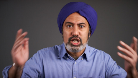 Angry-Middle-Aged-Man-In-Turban-Shouting-Portrait