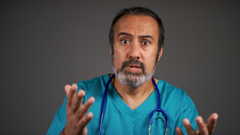 Visibly-Annoyed-Middle-Aged-Doctor-Portrait