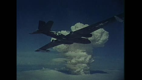 1959-American-B-57B-Plane-On-Cloud-Sampling-Mission-During-Thermonuclear-Test-at-Bikini-Atoll-