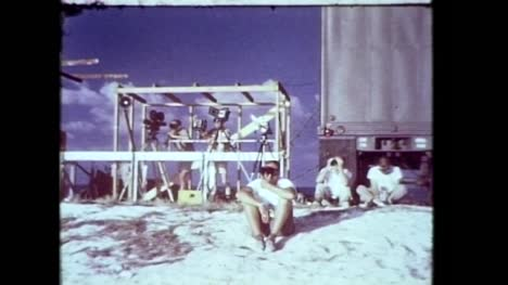 Archive-Clip-of-Media-Personnel-Observing-Nuclear-Blast-From-a-Distance