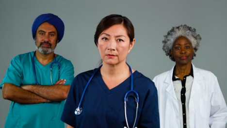 Three-Medical-Professionals-Looking-Visibly-Concerned-Portrait