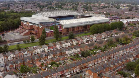Drone-Shot-Over-Housing-Estate-and-Villa-Park-Football-Ground