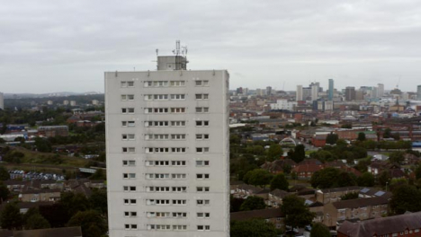 Drone-Shot-Orbiting-Block-of-Flats-In-Birmingham-England