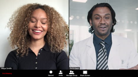 Young-Male-Doctor-Gives-Good-News-to-Patient-During-Video-Call