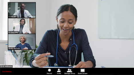 Young-Female-Doctor-Gives-Good-News-During-Video-Meeting
