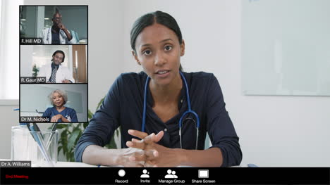 Young-Female-Doctor-Leading-Video-Meeting-with-Colleagues
