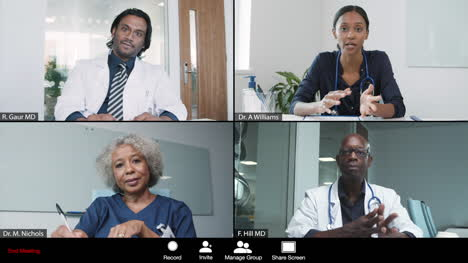 Young-Female-Doctor-Leading-Video-Conference-with-Colleagues