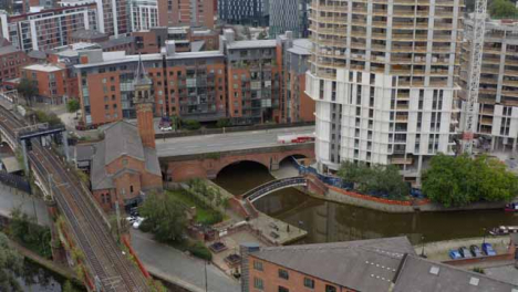 Drone-Shot-Orbiting-Castlefield-Canals-01