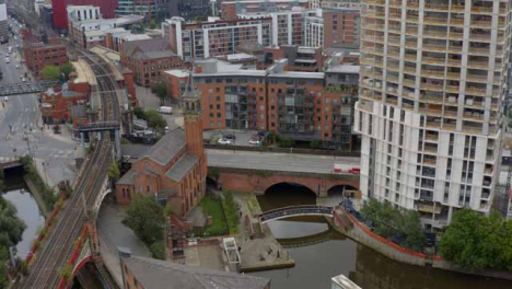 Drone-Shot-Pulling-Away-From-Castlefield-Canals-01