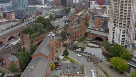 Drone-Shot-Orbiting-Castlefield-Canals-03