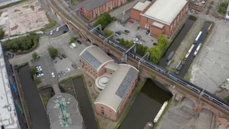 Overhead-Drone-Shot-Panning-Across-Castlefield-Canals-01