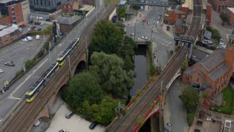 Drone-Shot-Panning-Across-Castlefield-Canals-03