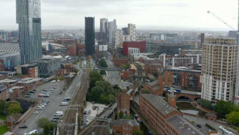 Drone-Shot-Pulling-Away-From-Castlefield-Canals-02