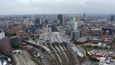 Drone-Shot-Pulling-Away-from-Manchester-Piccadilly-Station
