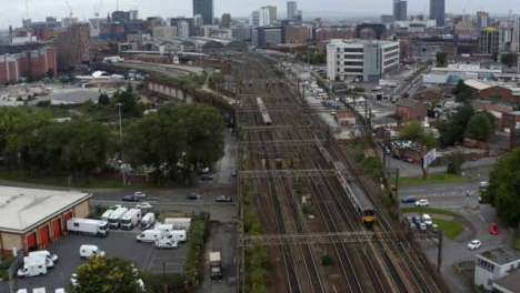 Drone-Shot-Tracking-Train-Near-Manchester-Piccadilly-Station-03