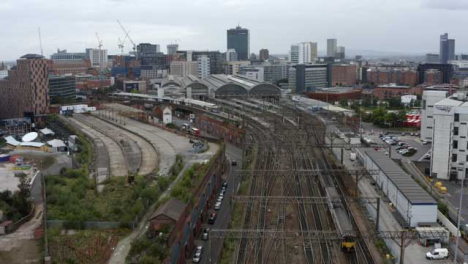 Drone-Shot-Tracking-Train-Near-Manchester-Piccadilly-Station-04
