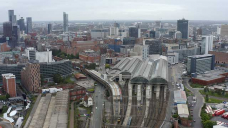 Drone-Shot-Orbiting-Manchester-Piccadilly-Station-02