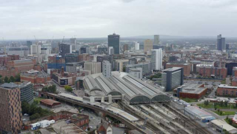 Drone-Shot-Orbiting-Manchester-Piccadilly-Station-06