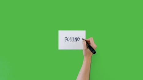 Woman-Writing-Polling-on-Paper-with-Green-Screen