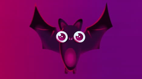 Flying-Bat-Animated-Motion-Graphic-with-Alpha-Matte