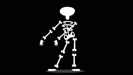 Gráfico-De-Movimiento-Animado-De-Esqueleto-Bailando-Con-Mate-Alfa
