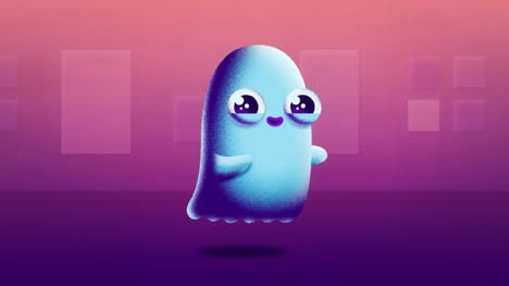Floating-Ghost-Animated-Motion-Graphic-with-Alpha-Matte-