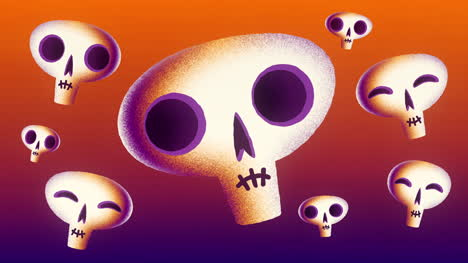 Halloween-Skulls-Animated-Motion-Graphic-