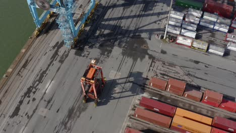 Drone-Shot-Tracking-Forklift-Truck-At-Liverpool-Port-02