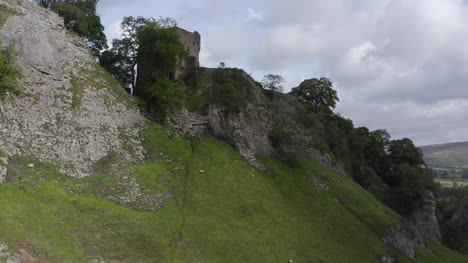 Drone-Shot-Rising-Above-Peveril-Castle-01