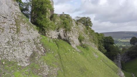 Drone-Shot-Rising-Above-Peveril-Castle-02