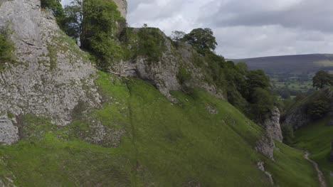Drone-Shot-Rising-Above-Peveril-Castle-06