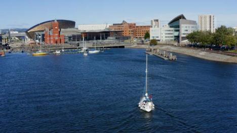 Drone-Shot-Orbiting-Cardiff-Bay-01