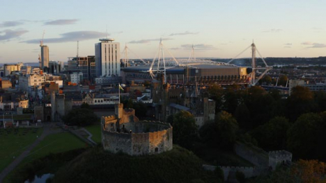 Orbiting-Drone-Shot-Pulling-Away-From-Cardiff-Castle-01