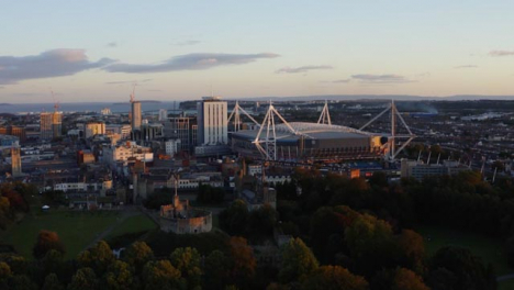 Orbiting-Drone-Shot-Pulling-Away-From-Cardiff-Castle-02