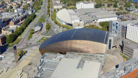 Drone-Shot-Orbiting-Wales-Millennium-Centre-04