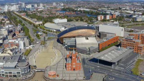 Drone-Shot-Orbiting-Cardiff-Bay-06
